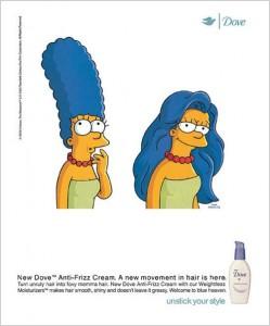 Marge Simpson égérie Dove
