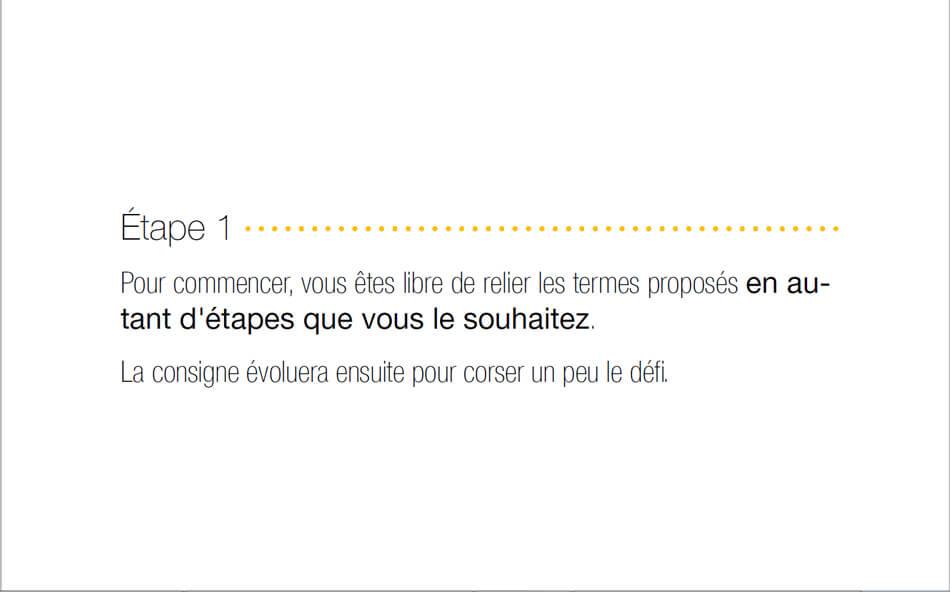 Etape 1 Le jeu du chemin - Yves Bonis